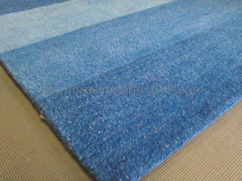 Alfombra lana moderna manual easy azul alfombras baratas - Limpieza de alfombras de lana ...