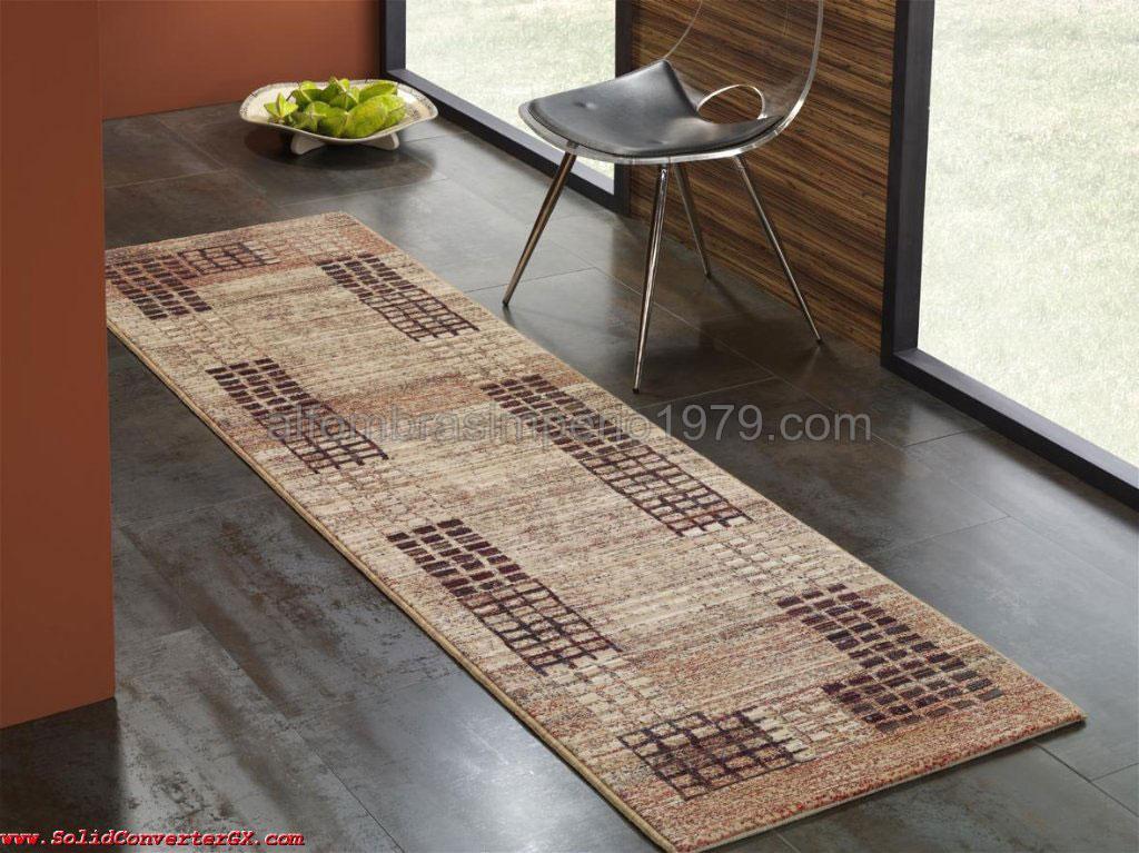 Alfombra lana moderna pasillo cuadritos cen 2216 - Alfombras de pasillo modernas ...