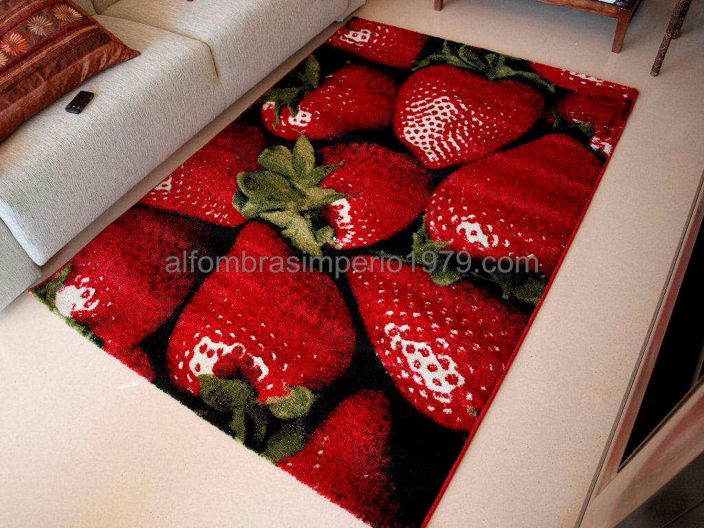 Alfombra fresas alfombras baratas moderno for Alfombras baratas outlet