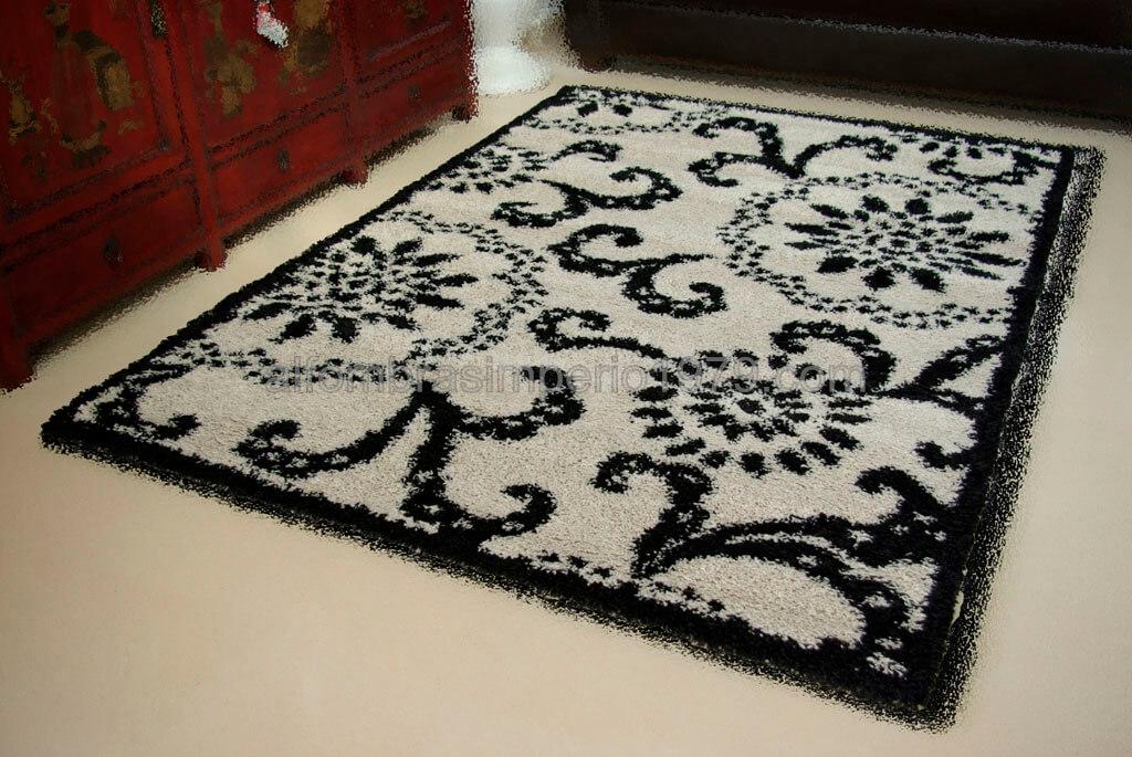 Alfombra pelo alto lin 44001 beiga alfombras baratas moderno - Alfombras lisas baratas ...