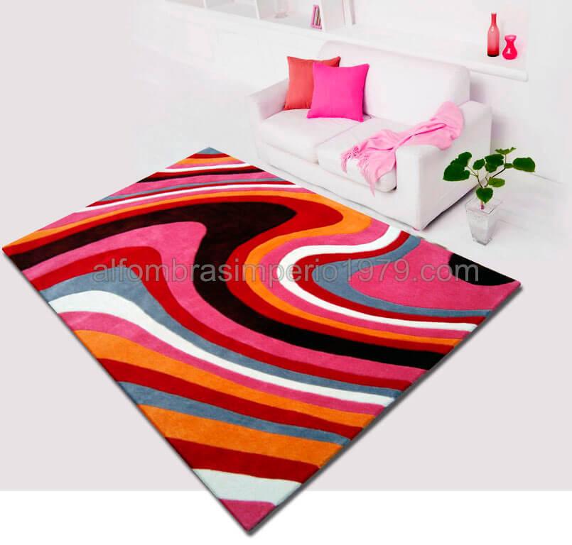 Alfombra moderna semi manual ondas imp alfombras baratas - Alfombras juveniles modernas ...