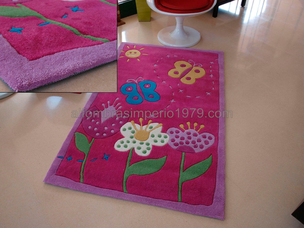 Alfombra infantil lux 50 rosa alfombras infantiles - Alfombra infantil rosa ...