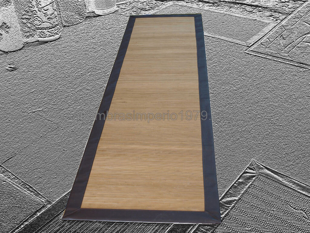 Alfombra pasillo bambu cenefa chocolate alfombras a medida - Alfombras de pasillo modernas ...