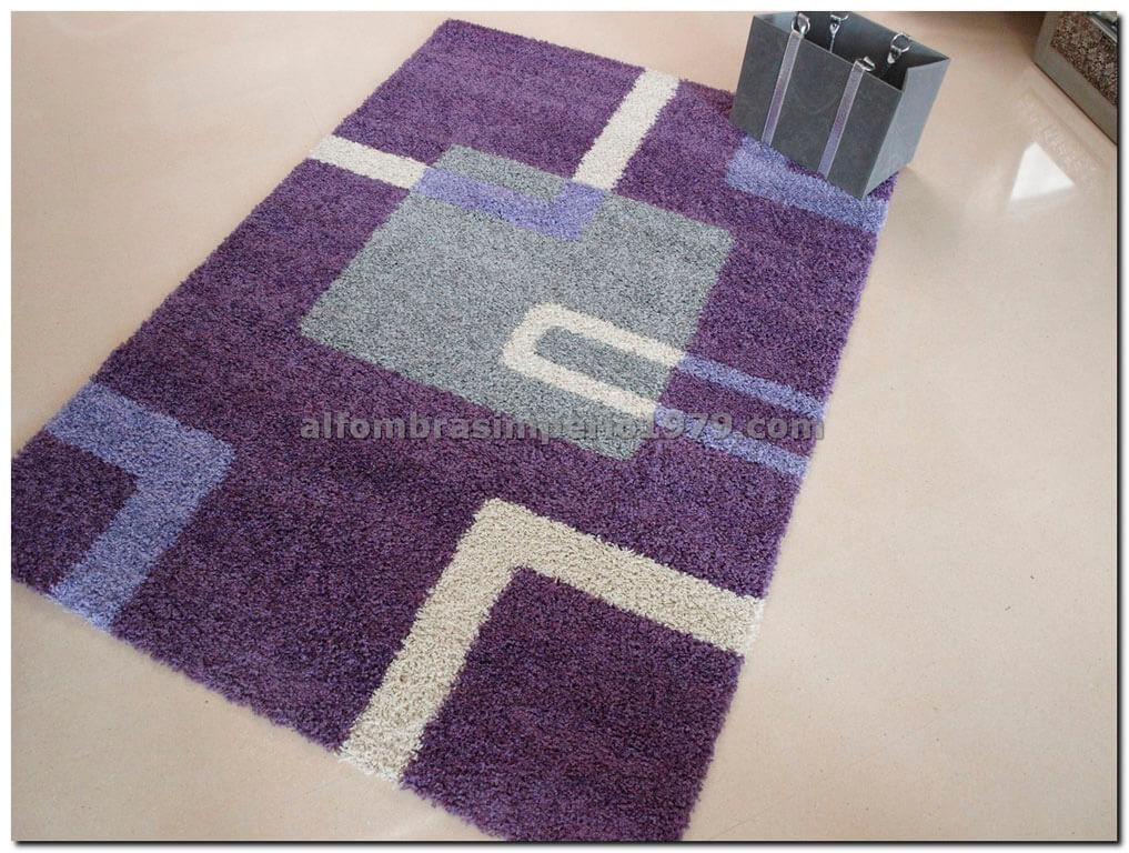 Alfombra moderna catay 8550 morado alfombras modernas for Alfombras redondas modernas