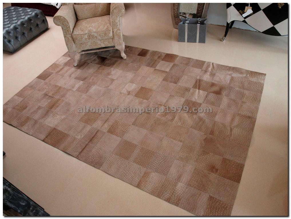 Patchwork piel 101 beig alfombras de piel patchwork for Alfombras de cuero