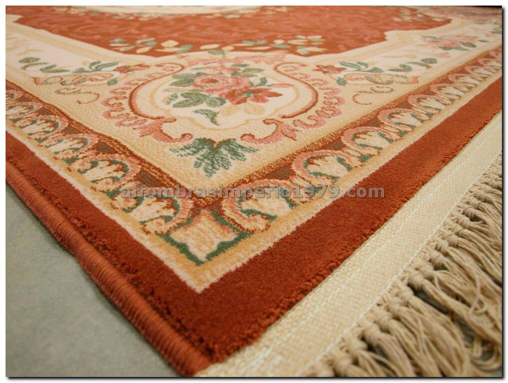 Alfombra redonda de lana clasica clara salmon alfombras - Alfombras clasicas de lana ...