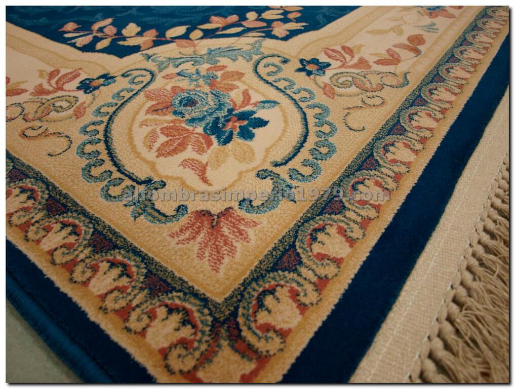 Alfombra de lana clasica clara azul alfombras clasicas - Alfombras clasicas de lana ...