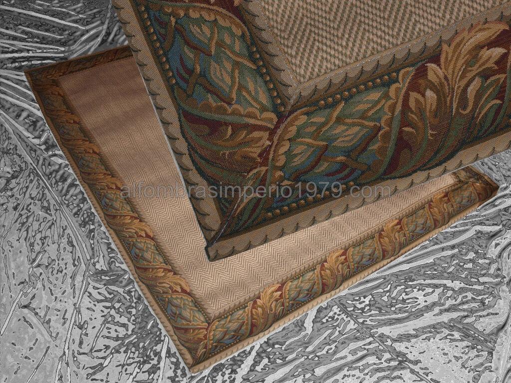 Alfombra lana rustica cenefa alta calidad 16 alfombras for Alfombras clasicas baratas