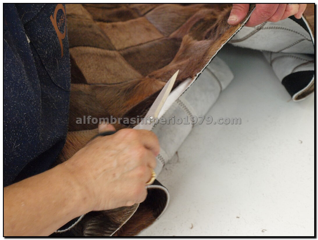 Alfombra de piel patchwork beig 10x10 alfombras de piel - Alfombras de piel baratas ...