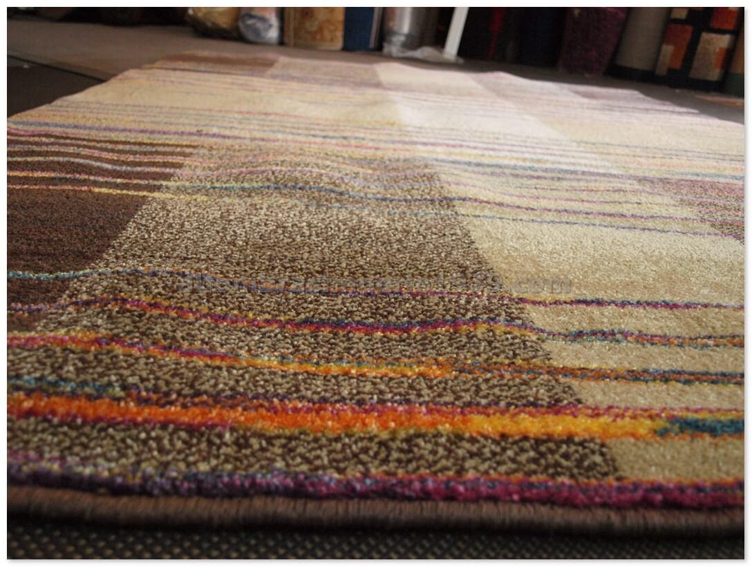 Alfombra moderna electra marron alfombras baratas moderno for Alfombras muy baratas
