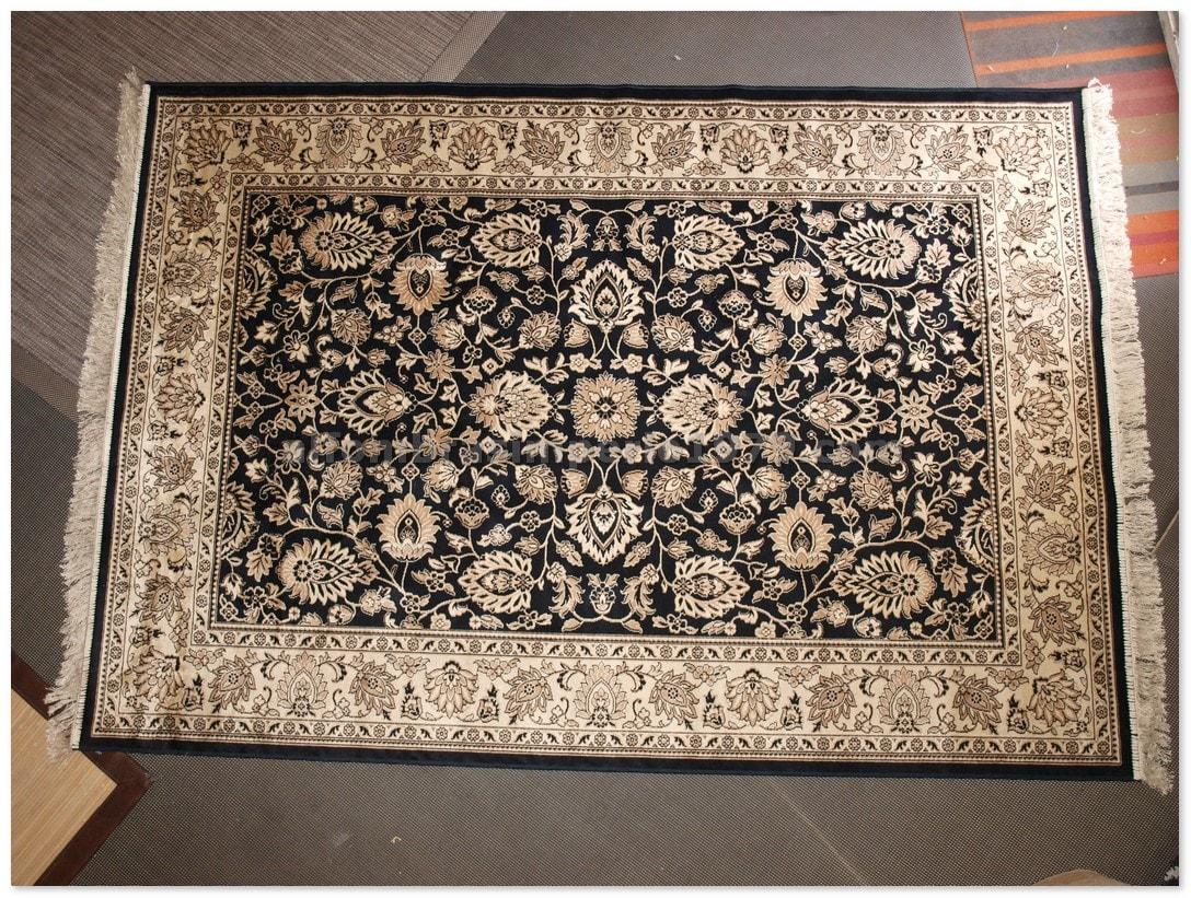 alfombras clasicas finas belgim 4827 negro alfombras