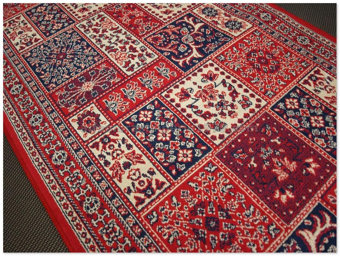 Alfombra clasica fina belgim 4796 rojo alfombras for Alfombras precios m2