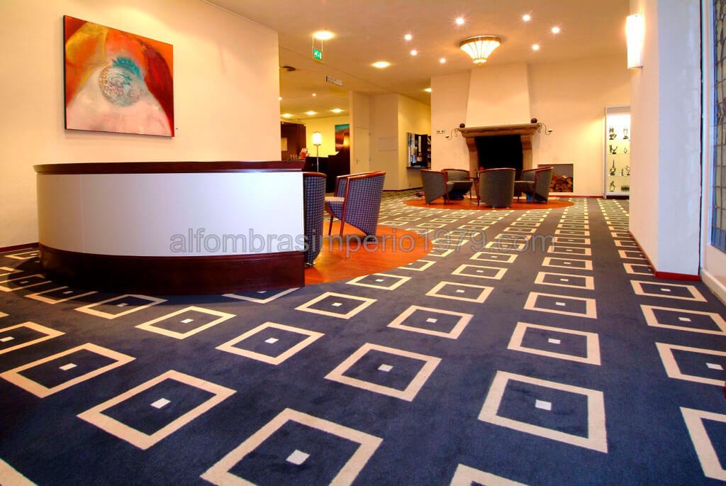 Moqueta recepcion hotel instalaciones de moquetas realizadas Alfombras grandes modernas