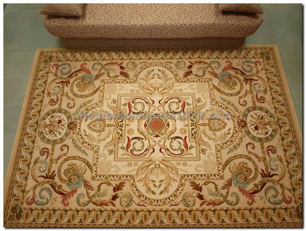 Alfombra de lana clasica kanimo 608 beig alfombras - Alfombras de lana a medida ...