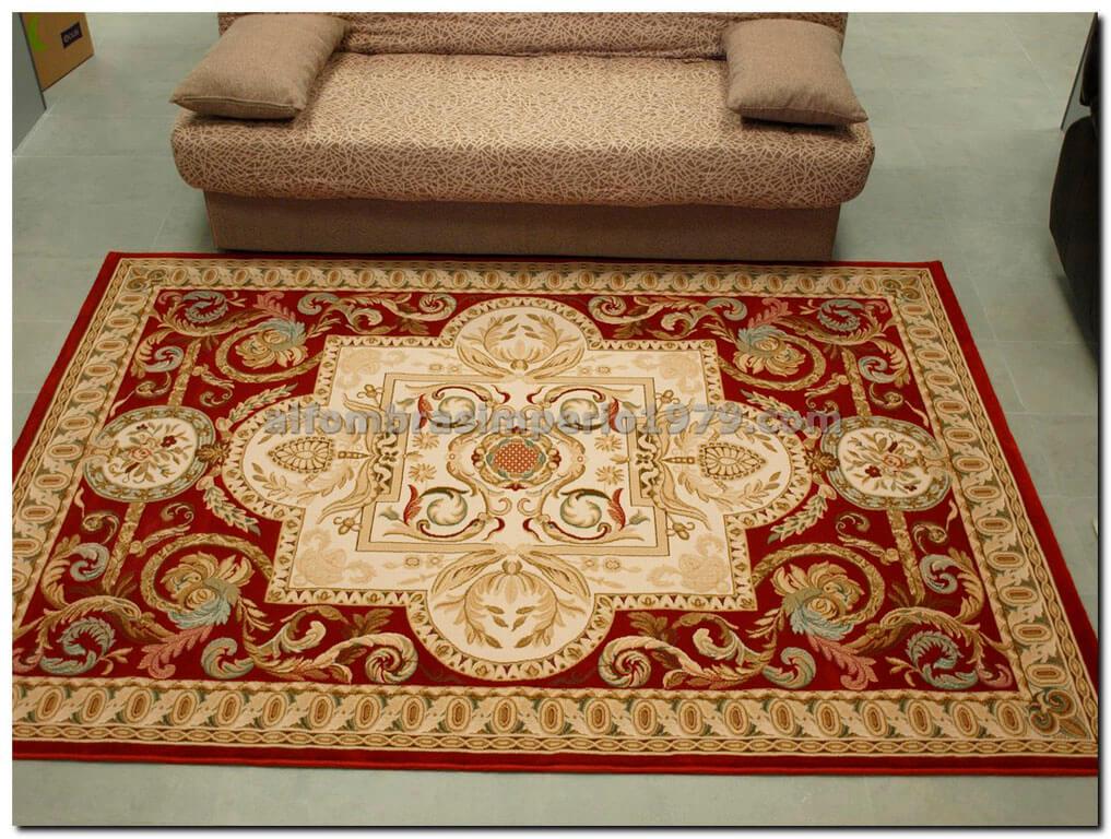 Alfombra de lana clasica kanimo 608 rojo alfombras for Precio de alfombras