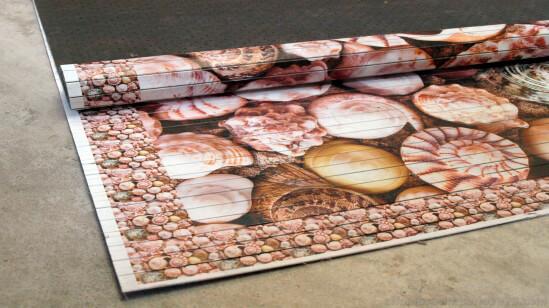 Alfombra alfombra bambu impreso caracolas alfombras a medida - Alfombras de bambu a medida ...