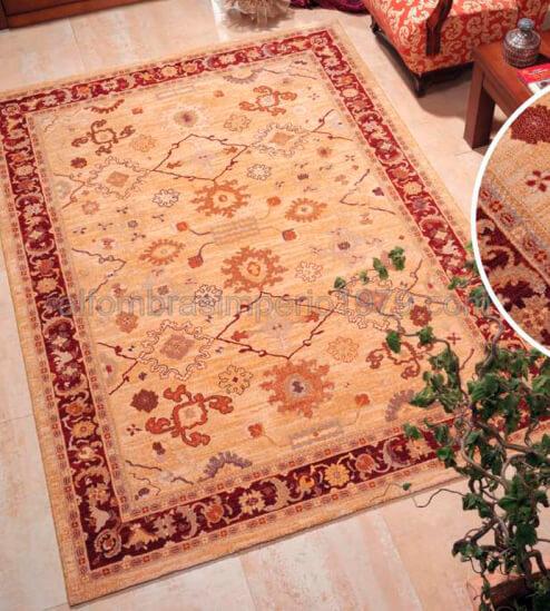 Alfombra lana clasica zhafir 370 oro alfombras clasicas for Alfombras clasicas baratas