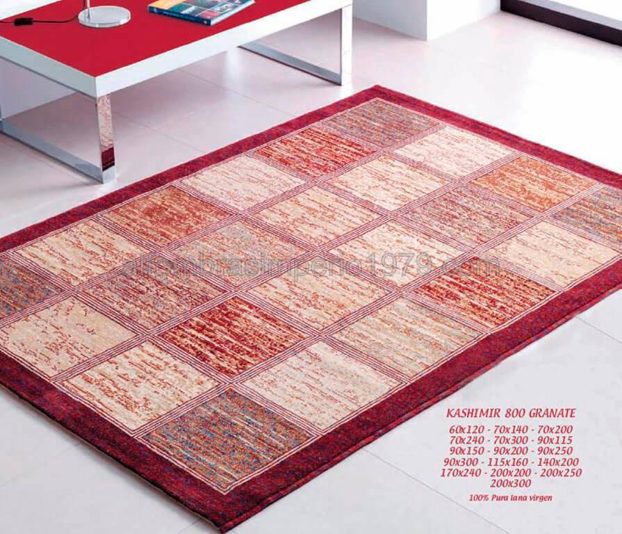 alfombra lana moderna kashimir 800 granate alfombras