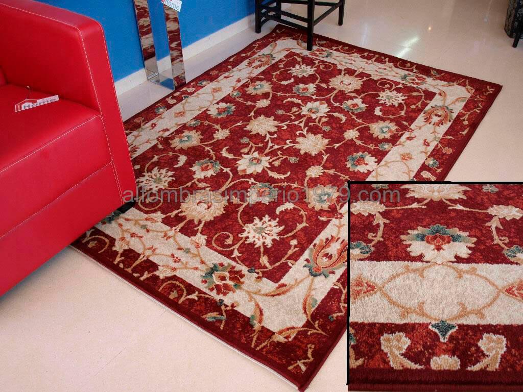 Alfombra clasica nova 5590 rojo alfombras clasicas for Alfombras clasicas baratas
