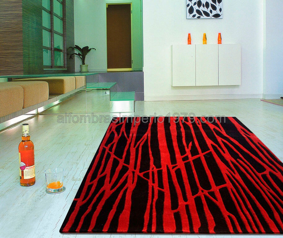 Alfombra Moderna Semi-Manual Red-imp