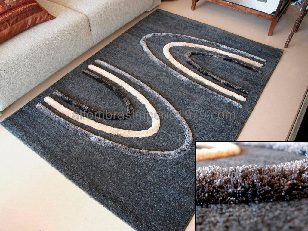 Alfombra Moderna Sult-T324-GREY