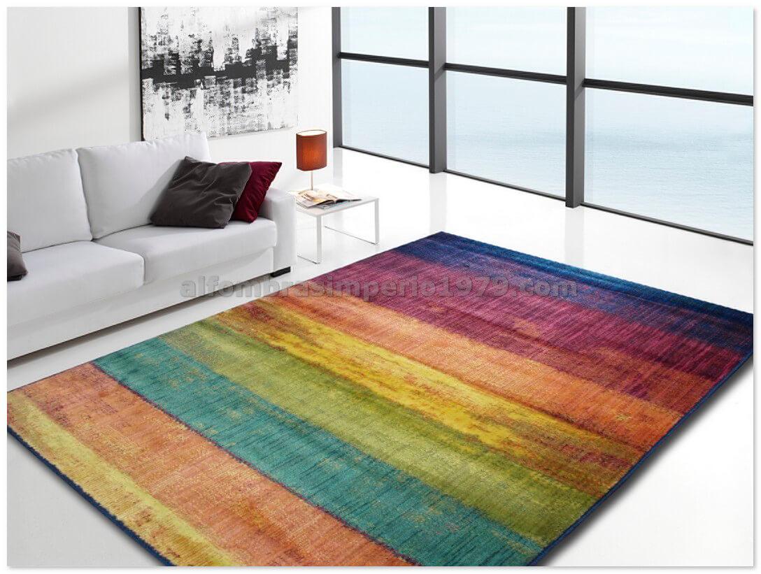 Alfombra moderna colors 10 alfombras modernas for Alfombras redondas modernas