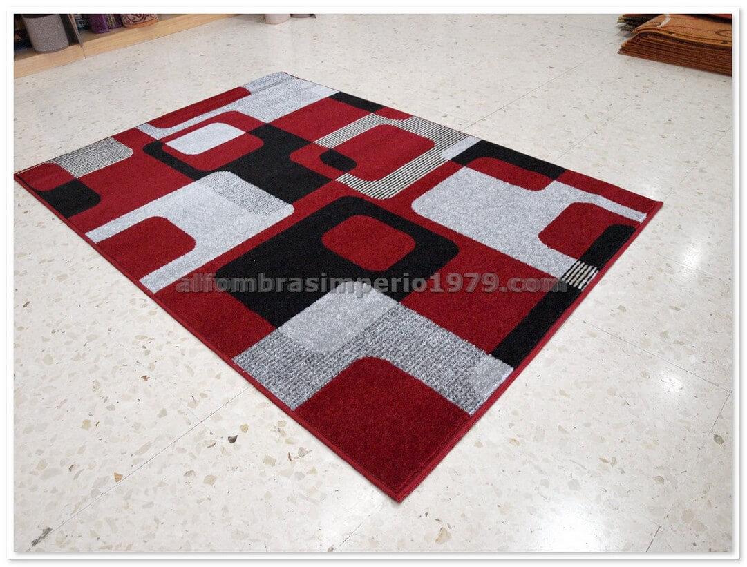 Alfombra Moderna Crevillente Art1 Rojo