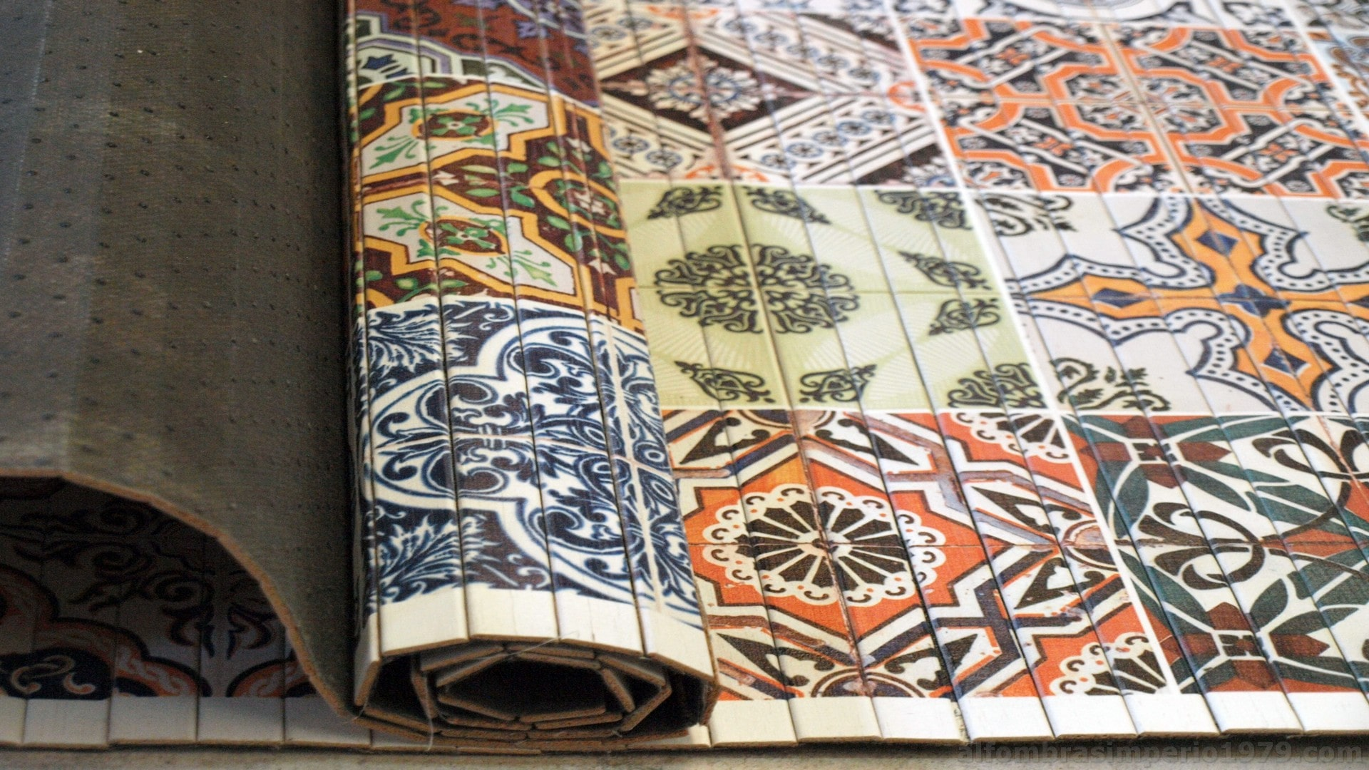 Alfombra Fina Bambu impreso HIDRAULICO