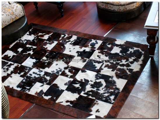 Patchwork Piel Marron Natural 30x30