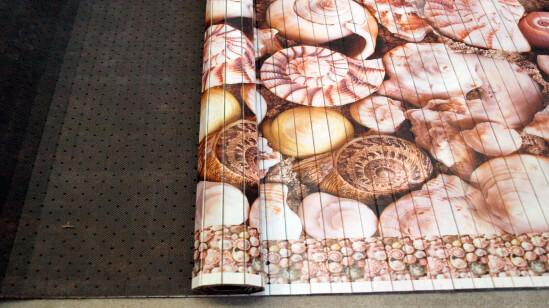 Alfombra Fina Bambu impreso CARACOLAS