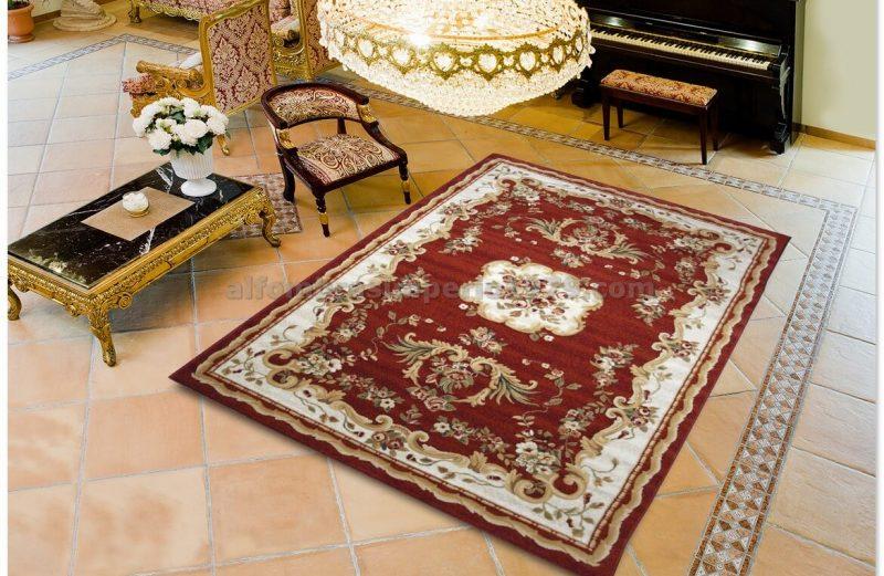 Alfombra Clásica TERRA 180 10 rojo (pasillera 67)
